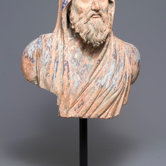 A terracotta bust 'after the antique', Italy, 17/18th C.