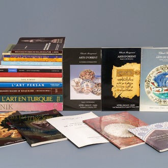 A collection of books and catalogues on Islamic art