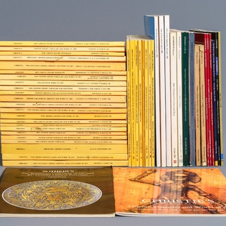 48 Christie's and Sotheby's Chinese arts auction catalogues, 1980's