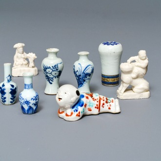 A varied collection of Chinese and Japanese porcelain, 18th C.