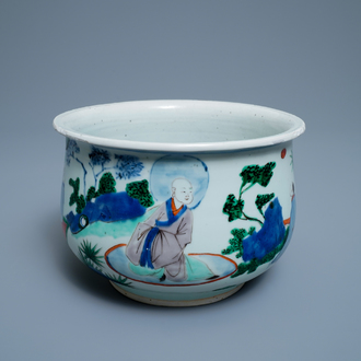 A Chinese wucai censer, Transitional period