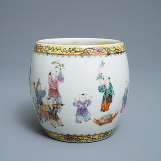 A Chinese famille rose 'playing boys' vase, Republic