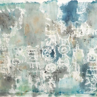 Nam Kwan (Korea, 1911-1990): Composition, watercolour on paper, dated 1974