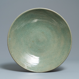 A large Chinese 'ge'-type dish, 19th C.