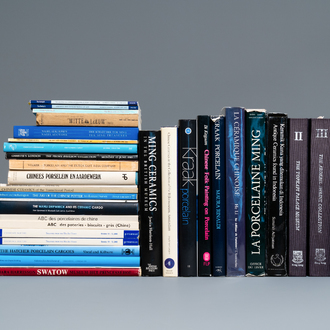 47 reference works on mostly blue and white Chinese Ming and Transitional porcelain, incl. Hatcher cargo and kraak wares
