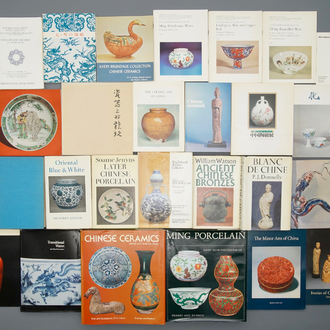 30 books on Chinese art, mainly on Ming and Qing Dynasty porcelain