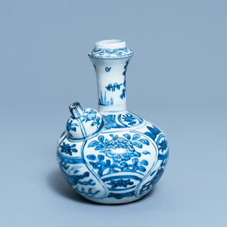 A Chinese blue and white 'flying horse' kendi, Wanli