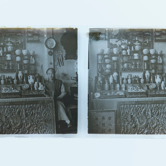 A collection of 201 stereoviews of China on glass slides, mostly Beijing, ca. 1903