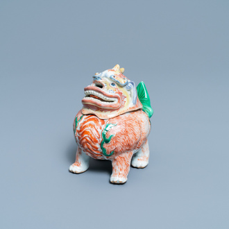 A Chinese wucai 'luduan' censer, Transitional period