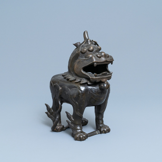 A large Chinese bronze 'Luduan' censer, Ming