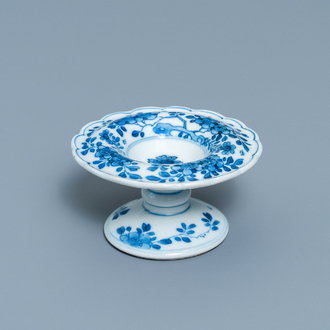 A Chinese blue and white salt after a European silver model, Kangxi
