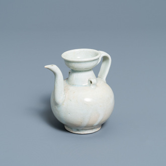 A Chinese celadon-glazed 'Yue' ewer, Song