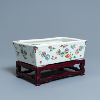 A rectangular Chinese famille rose jardinière, Guangxu mark and of the period