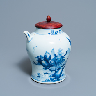 A Chinese blue and white ewer for the Vietnamese market, Kangxi