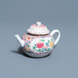 A Chinese famille rose teapot and cover, Yongzheng