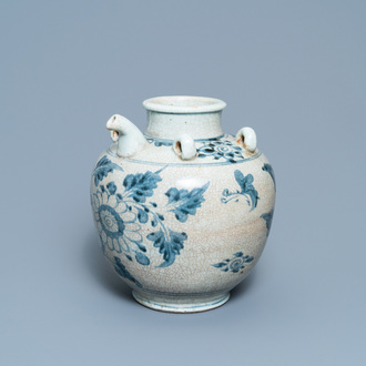 A large Chinese blue and white Swatow ewer, Ming