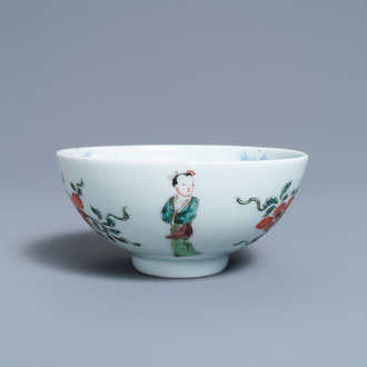 A Chinese famille verte bowl, Yongzheng mark and of the period