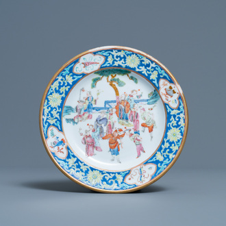 A Chinese famille rose plate, Tongzhi mark and of the period