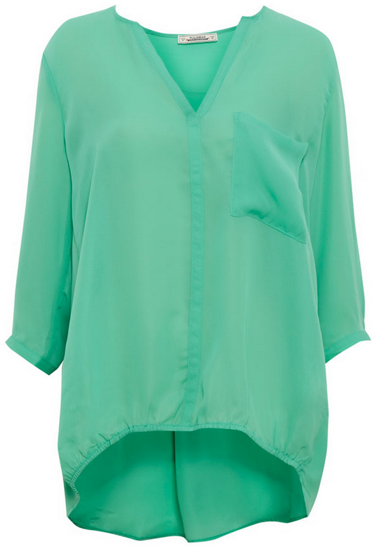 camisa verde pull&bear
