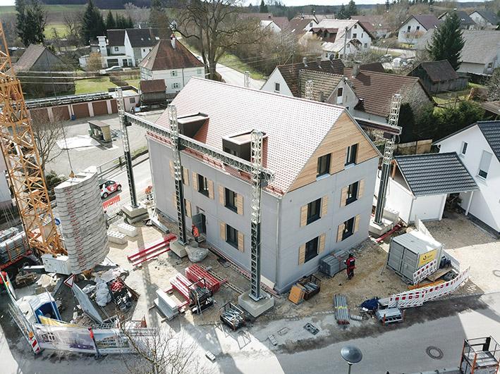 Erster gedruckter Wohnbau: Das gedruckte Mehrfamilienhaus in Wallenstein