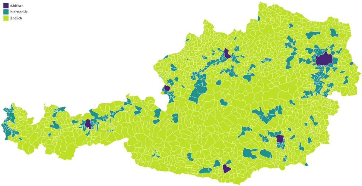 Übersichtskarte Österreich - Wahlverhalten
