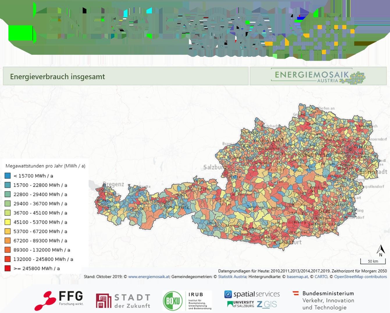 Energieverbrauch der österreichischen Gemeinden