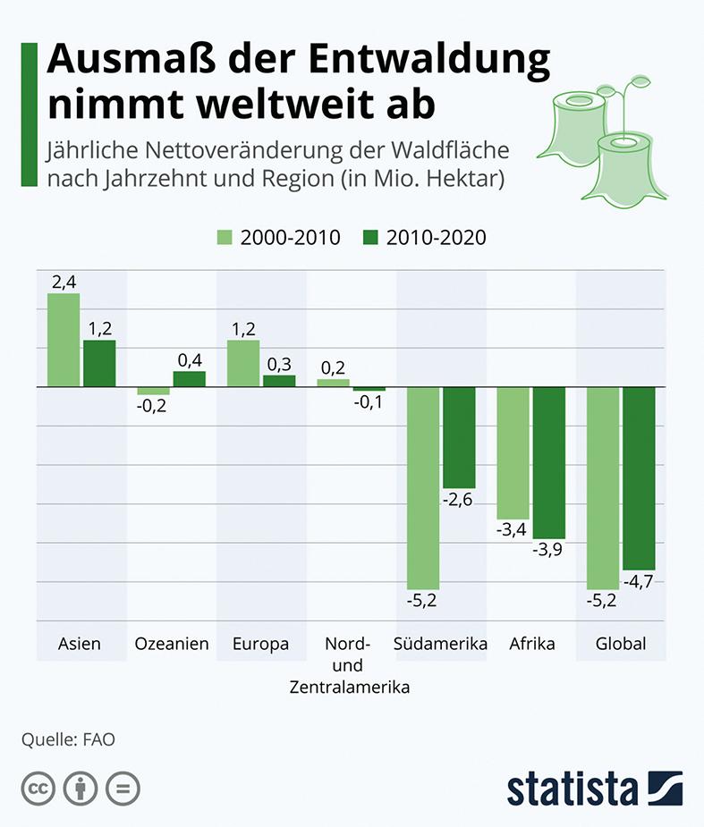 Grafik zur Entwaldung