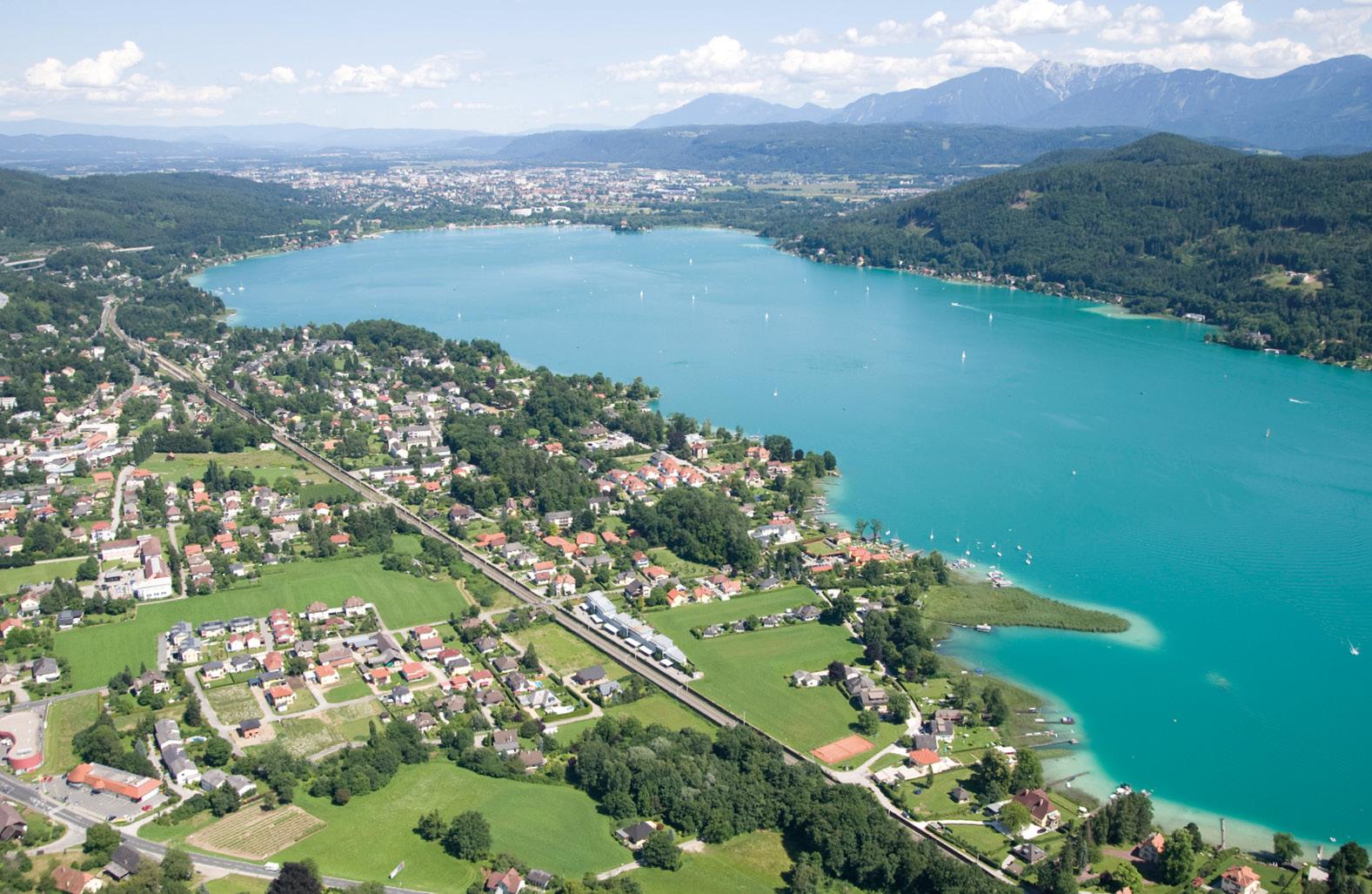 Luftbild von Krumpendorf