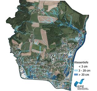 Oberflächenwasserkarte von Schwertberg