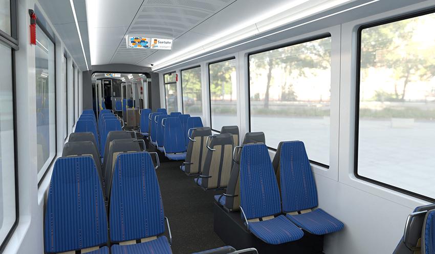 Innenraum der TramTrain-Fahrzeuge