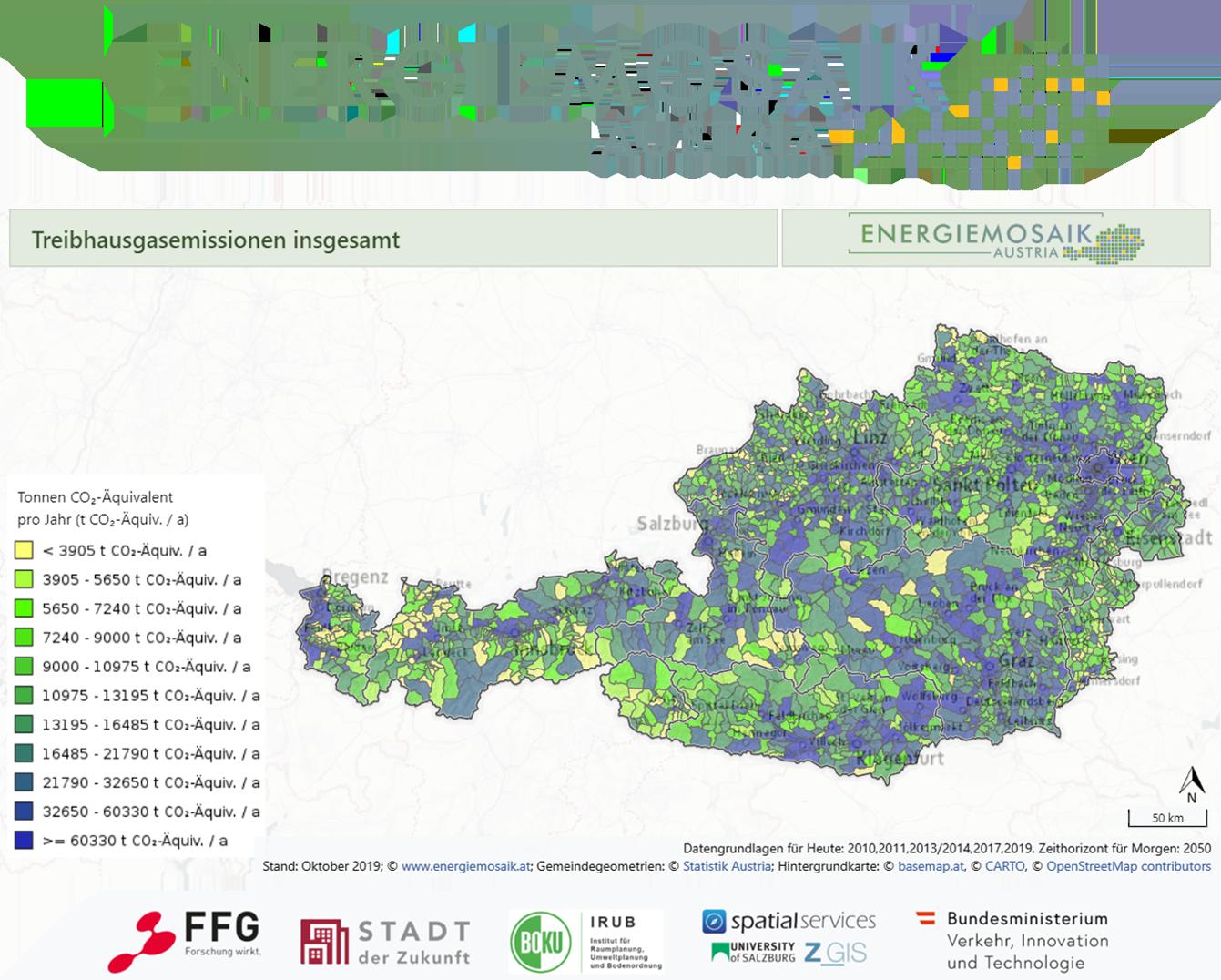 Treibhausgasemissionen der österreichischen Gemeinden