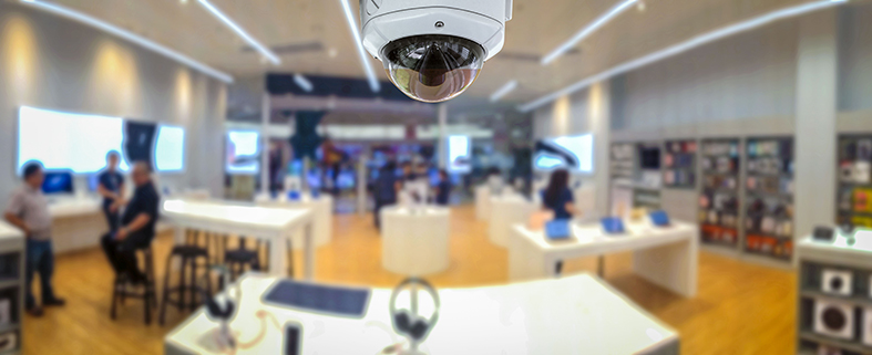 Videoüberwachung in einer Bücherei