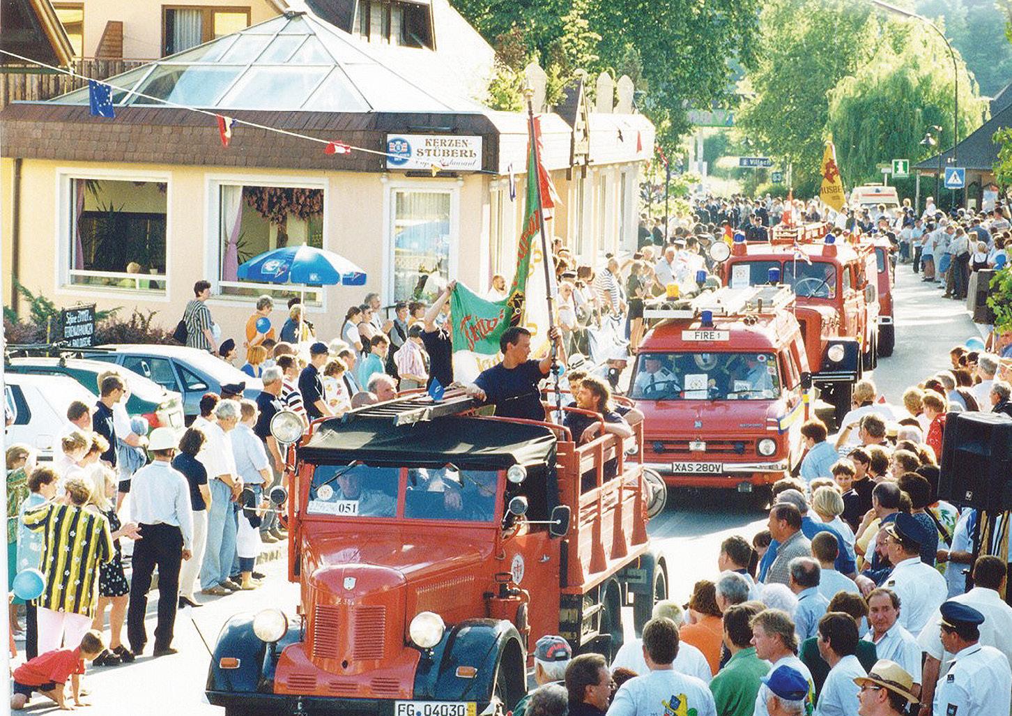 Sternfahrt der Krumpendorfer Feuerwehr