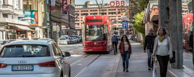 Straßenverkehr in Innsbruck