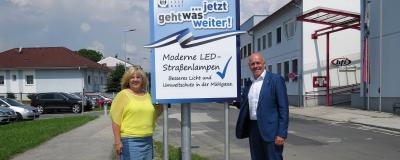 Vizebürgermeisterin Ilse Frühwirth und Bürgermeister Georg Rosner