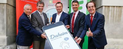 "Präsentation der ""Daheim""-App"