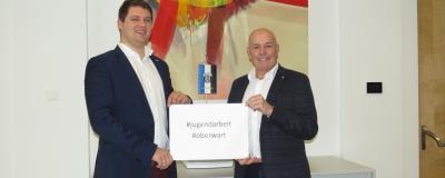 Stefan Rath und Bürgermeister Georg Rosner