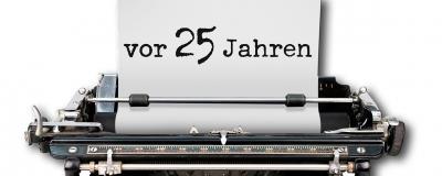 Schreibmaschine schreibt 25 Jahre