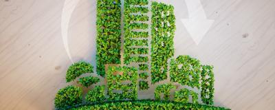 Stadt aus Pflanzen