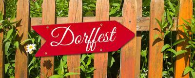 """Schild """"Dorffest"""""""