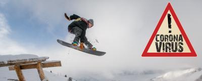 Snowboarding während Corona