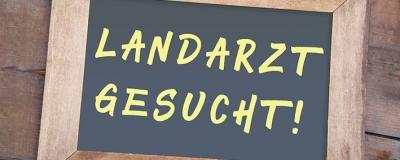 """Tafel """"LANDARZT GESUCHT!"""""""