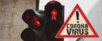Rote Ampel wegen Corona