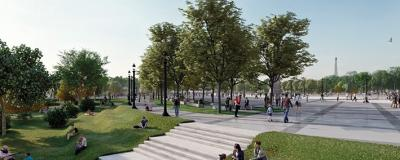 Umgestaltung der Champs Elysées ins Paris