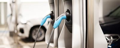 Ladestationen für Elektro-Autos in einer Tiefgarage