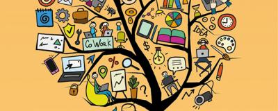 Co-Working Baum Illustration