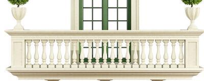 Balkon mit Balustrade