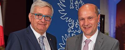Alfred Riedl und Johannes Pressl