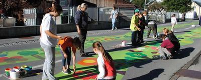 """Straßenmalwettbewerb """"Blühende Straßen"""""""
