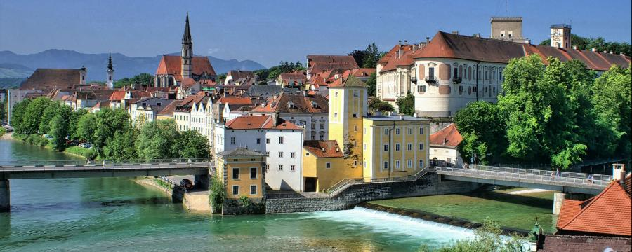 Blick über die Steyrer Altstadt